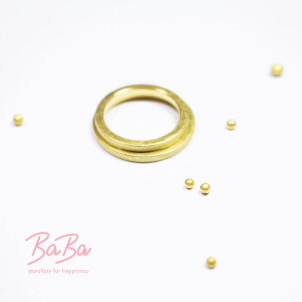Individualisierbare BaBa Trauringe aus 900/-Gold