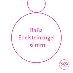Edelsteinkugel Anhänger 16mm baBa jewellery for happiness