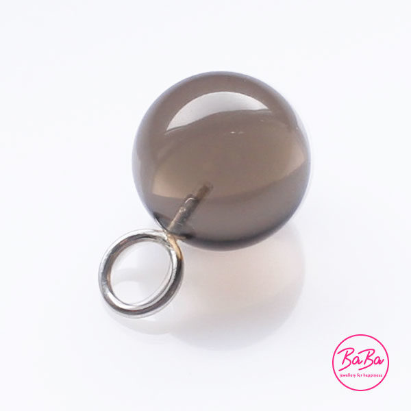 Rauchquarz Kugel 16mm Anhänger BaBa jewellery for happiness