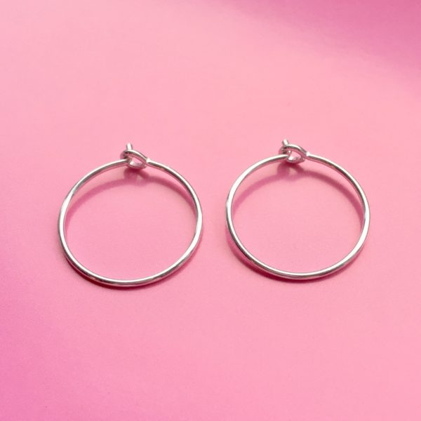 Silber Creolen 20mm BaBa jewellery