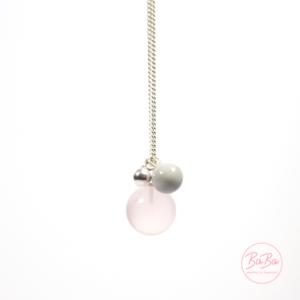 BaBa Sphere lange Silberkette mit Rosenquarz