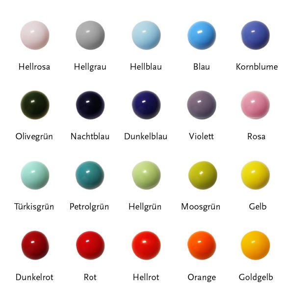 Anhänger mit Glaskugel in verschiedenen Farben 10mm BaBa jewellery for happiness