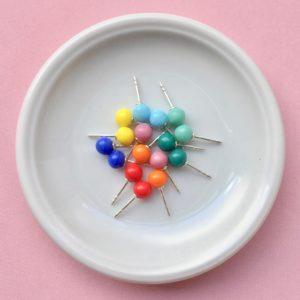 Ohrstecker mit Glaskugeln verscheidene Farben