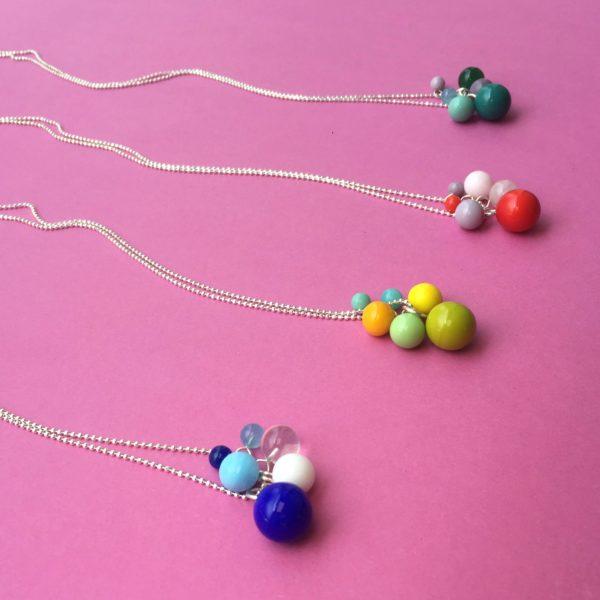 Glaskugeln 14mm Kombinationen BaBa jewellery for happiness